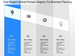 or Four Staged Vertical Process Diagram For Business Planning Powerpoint Template