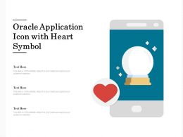 Oracle Application Icon With Heart Symbol
