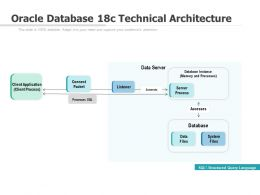 Oracle Database 18c Technical Architecture