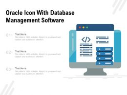 Oracle Icon With Database Management Software