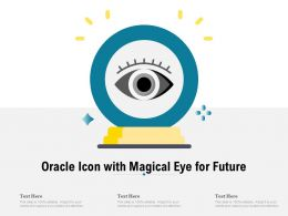 Oracle Icon With Magical Eye For Future