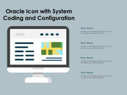 Oracle Icon With System Coding And Configuration