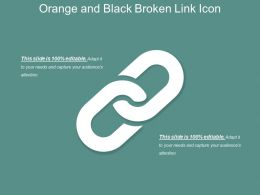 Orange And Black Broken Link Icon