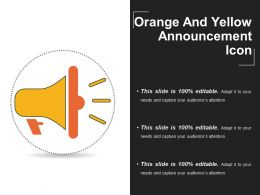 Orange And Yellow Announcement Icon