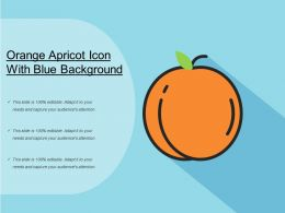 Orange Apricot Icon With Blue Background