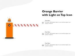 Orange Barrier With Light On Top Icon