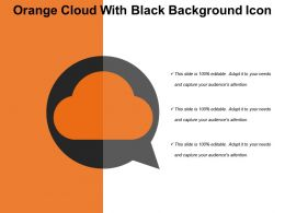 Orange Cloud With Black Background Icon