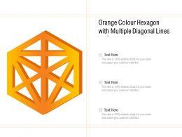 Orange Colour Hexagon With Multiple Diagonal Lines