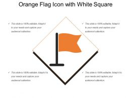 Orange Flag Icon With White Square