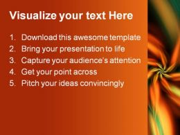 Orange Green Flower Beauty PowerPoint Template 0910  Presentation Themes and Graphics Slide02