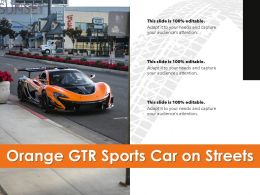 Orange GTR Sports Car On Streets