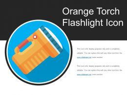 Orange Torch Flashlight Icon