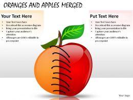 Oranges And Apples Merged Powerpoint Presentation Slides