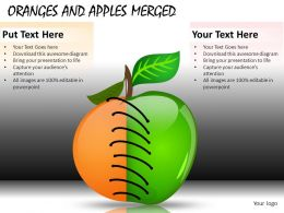 Oranges And Apples Merged Powerpoint Presentation Slides DB