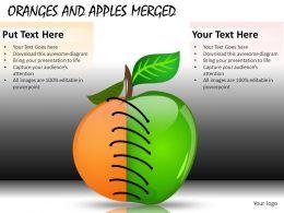 Oranges And Apples Merged Powerpoint Presentation Slides DB