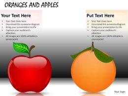 Oranges And Apples Powerpoint Presentation Slides DB
