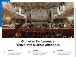 Orchestra Performance Venue With Multiple Attendees