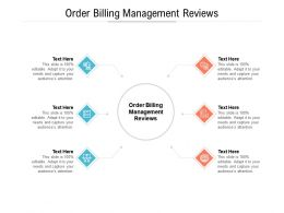 Order Billing Management Reviews Ppt Powerpoint Presentation Icon Samples Cpb