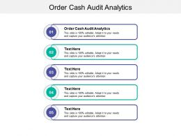Order Cash Audit Analytics Ppt Powerpoint Presentation Pictures Design Inspiration Cpb