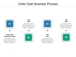 Order Cash Business Process Ppt Powerpoint Presentation Infographics Layouts Cpb