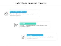 Order Cash Business Process Ppt Powerpoint Presentation Visual Aids Example File Cpb