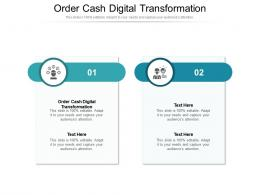 Order Cash Digital Transformation Ppt Powerpoint Presentation Show Sample Cpb