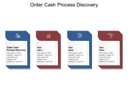 Order Cash Process Discovery Ppt Powerpoint Presentation Layouts Mockup Cpb