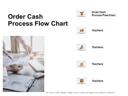 Order Cash Process Flow Chart Ppt Powerpoint Presentation Show Grid Cpb