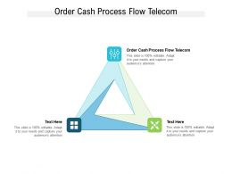 Order Cash Process Flow Telecom Ppt Powerpoint Presentation Summary Gridlines Cpb