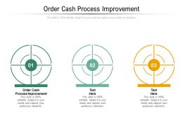 Order Cash Process Improvement Ppt Powerpoint Presentation Summary Visual Aids Cpb