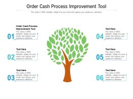 Order Cash Process Improvement Tool Ppt Powerpoint Presentation Slides Clipart Images Cpb