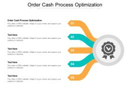Order Cash Process Optimization Ppt Powerpoint Presentation Layouts Graphics Download Cpb