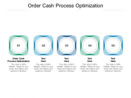 Order Cash Process Optimization Ppt Powerpoint Presentation Tips Cpb