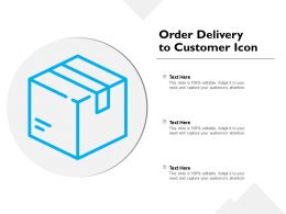 Order Delivery To Customer Icon