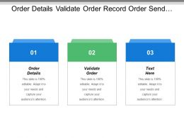 Order Details Validate Order Record Order Send Supplier