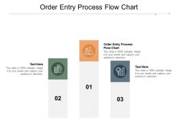Order Entry Process Flow Chart Ppt Powerpoint Presentation Pictures Themes Cpb