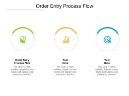 Order Entry Process Flow Ppt Powerpoint Presentation Summary Diagrams Cpb