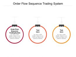 Order Flow Sequence Trading System Ppt Powerpoint Presentation Layout Ideas Cpb