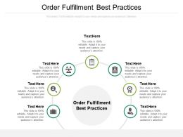 Order Fulfillment Best Practices Ppt Powerpoint Presentation Gallery Diagrams Cpb