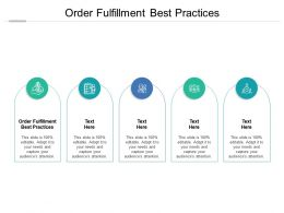 Order Fulfillment Best Practices Ppt Powerpoint Presentation Infographic Template Structure Cpb