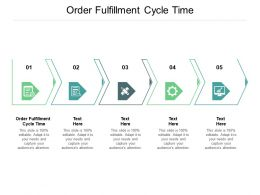 Order Fulfillment Cycle Time Ppt Powerpoint Presentation Infographic Template Slides Cpb