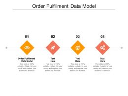 Order Fulfillment Data Model Ppt Powerpoint Presentation Visual Aids Deck Cpb