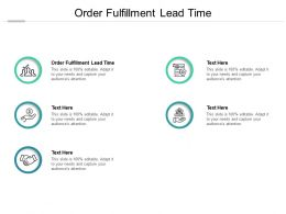 Order Fulfillment Lead Time Ppt Powerpoint Presentation Outline Ideas Cpb