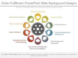 Order Fulfillment Powerpoint Slide Background Designs