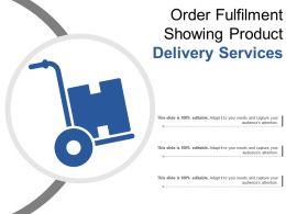 Order Fulfillment Showing Product Delivery Services