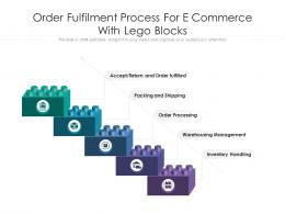 Order Fulfilment Process For E Commerce With Lego Blocks