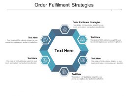 Order Fulfilment Strategies Ppt Powerpoint Presentation Icon Skills Cpb