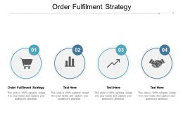 Order Fulfilment Strategy Ppt Powerpoint Presentation Styles Background Images Cpb
