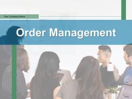 Order Management Business Processes Product Purchase Relationship