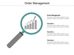 Order Management Ppt Powerpoint Presentation Infographic Template Graphics Cpb